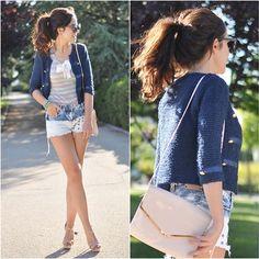 Bershka Shorts, Ianywear Top, Suite Blanco Tweed Jacket:, H Bag, Primark Heels, Hippie Lovers Bracelets