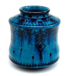 Earthenware Nieuw-Delfts vase Albarello painted by W.D.Oosterloo executed by the Porceleyne Fles Delft / the Netherlands 1910-'30