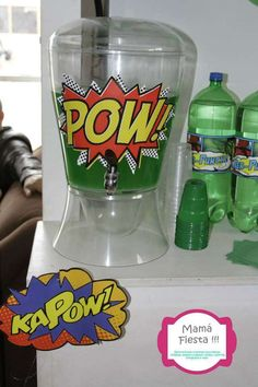 Hulk Superhero Birthday Party drinks!  See more party ideas at CatchMyParty.com!