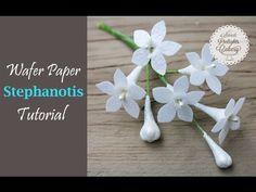 Como hacer Flores comestibles con Wafer Paper Tutorial - YouTube