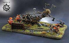 Warhammer FB | Dwarfs | Malakai Makaisson's Goblin Hewer #warhammer #ageofsigmar…