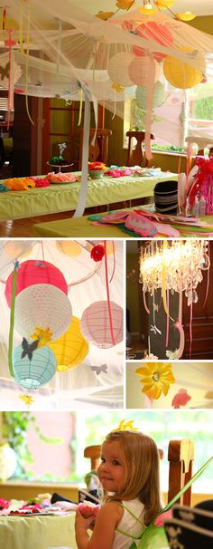 Loving the combination of tulle and chinese lanterns.  Great decorations