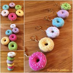 Doughnut keyrings! #amigurumi #crochet #doughnut #crochetdoughnuts #amigurumifood #crochetfood #yarn #creations #donut…