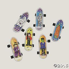 Have a haunting thrill ride with these plastic finger skateboards! Little hands…