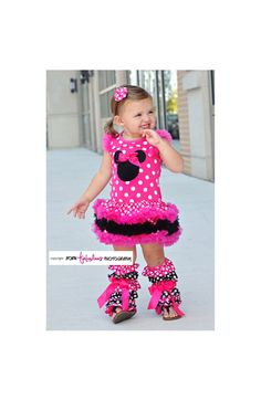 How cute is this hot pink and black Minnie Petti Dress?! Perfect to wear to Disney World or for a Minnie Mouse themed birthday! $22.99