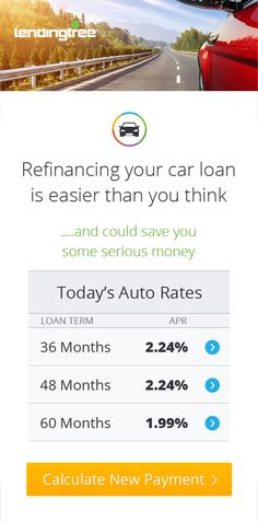Rates as low as 1.99%! Use LendingTree to calculate your new, lower car payment.