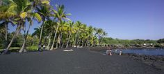 Obsidian, magnetite and volcanic basalt type dark sand beaches are found in Hawaii and Greece! Love it! Have you been?