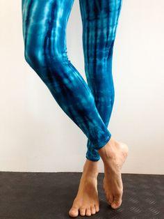 SEA CHORUS COSTUME (lagoon animal) - tye dye blue long  leggings with blue dress or long t-shirt