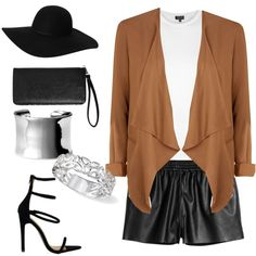 it's all about the brown jacket by maikehofman on Polyvore featuring polyvore fashion style Topshop Avenue Nordstrom Monki