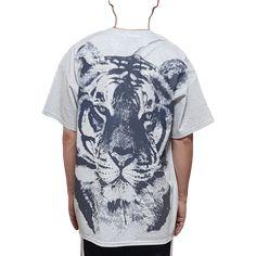 빅 호랑이 반팔 티셔츠-1 Big Tiger, Mens Tops, T Shirt, Fashion, Supreme T Shirt, Moda, Tee Shirt, Fashion Styles, Fashion Illustrations