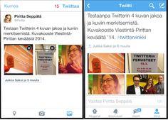 Uutta Twitterissä: 4 kuvaa kerralla twiittiin   Viestintä-Piritta
