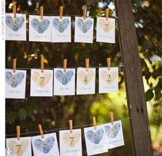 love these escort cards  photo by jassamyn harris photography, santa rosa, ca