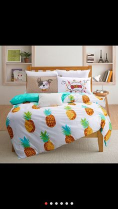 Great pineapple bed spread from AliExpress! #pineapple #pineapplebedspread #pineapplebedroom