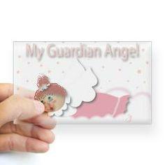 Raggedy Isabella Guardian Ange Sticker (rectangle)> Raggedy Isabella> Angelic Inspirations  J.L. Designs