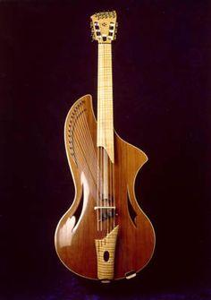 Guitarangi da Gamba, viola, da Gamba inspired unusual unique experimental musical instrument