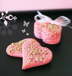 Pink fairy biscuits