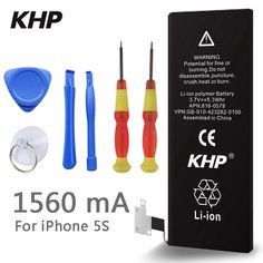 9.35$ (Buy here: http://alipromo.com/redirect/product/olggsvsyvirrjo72hvdqvl2ak2td7iz7/32715859996/en ) 100% Original Brand KHP Phone Battery For iphone 5S Real Capacity 1560mAh With Machine Tools Kit Mobile Batteries for just 9.35$