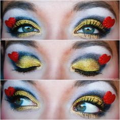 Alice in wonderland the queen of hearts makeup