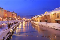 小樽運河 Otaru Unga Asia Travel, Japan Travel, Hokkaido Winter, Winter In Japan, Otaru, Tokyo Skytree, Sapporo, A Day In Life, Thing 1