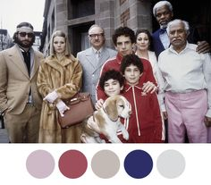 The Royal Tenenbaums, Wes Anderson 2001 - colour palettes from http://wesandersonpalettes.tumblr.com/