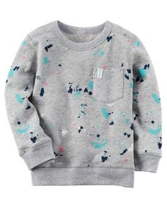 Kid Boy French Terry Paint Splatter Pullover from Carters.com. Shop clothing & accessories from a trusted name in kids, toddlers, and baby clothes.