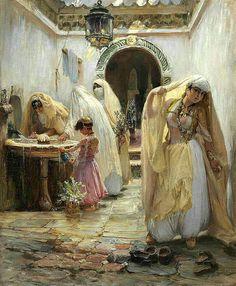 Peintre American, Frederick Arthur Bridgman (1847-1928)