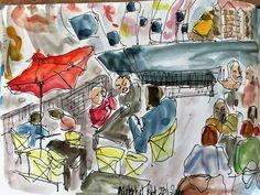 Afgelopen zaterdag, 23 januari heb ik voor het eerst meegedaan aan een urban sketch crawl. Deze sketch crawl vond plaats in de Markthal in R...