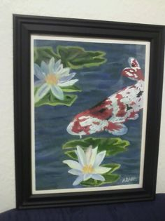 Lily Pond Original Painting Framed