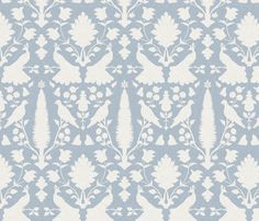 Avignon in Summer Sky Blue fabric by sparrowsong on Spoonflower - custom fabric