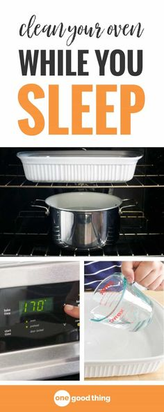Spatters and drips are an inevitable part of using your oven. Fortunately, cleaning your dirty oven is a lot easier than you think. This simple 3-step method takes almost all the elbow grease out of the job and works while you sleep! #cleaningtips #ovencleaning #OGT
