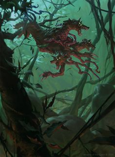 Sinuous Predator - Eldritch Moon MtG Art