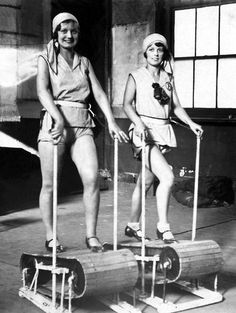 Exercising 1920s style.