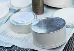 Create some stylish storage by repurposing empty cookie tins with maps and leather handles. These storage tins would look great in any travel themed room. Kitchen Storage Containers, Tin Containers, Road Maps, Upcycle, Reuse, Old Christmas, Diy Cleaners, Diy Storage, Tins