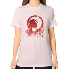 Red Tail Unisex T-Shirt (on woman)