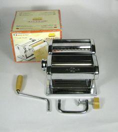 Marcato Atlas 150 Pasta Maker Roller Made Italy Original Box Chrome Color #Marcato