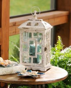 Antiqued White Lantern | Kirkland's