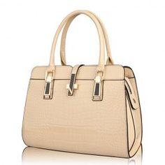 Elegant Women's Tote Bag With Solid Color Crocodile Printed Design (KHAKI)   Sammydress.com Mobile