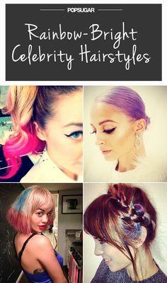 Pin for Later: Die Stars tragen Haare in allen Regenbogenfarben
