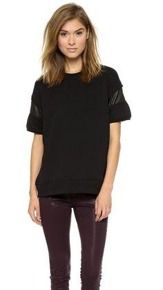 Rag & Bone/JEAN Lira Short Sleeve Fleece Pullover