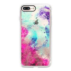 Cool Splotchy Watercolor Paint Daubs On Transparent Background -... ($40) ❤ liked on Polyvore featuring accessories, tech accessories, iphone case, slim iphone case, apple iphone case, transparent iphone case, iphone cases and iphone cover case