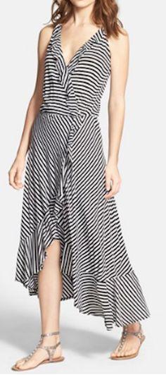 Stripe faux wrap dress http://rstyle.me/n/kqhnhnyg6