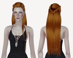 4t2 LeahLillith Anastasia and LeahLillith Ari Polycount: 32k, 34k (child to elder) Gold hairs are Leah's original texture and color, others are with Pooklet colors. Models credit to @esotheria-sims...