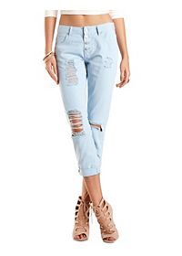 """Refuge """"Boyfriend"""" Colored Cropped Jeans n cute shoes"""