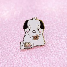 Our mascot Bo wants you to eat cookies and be happy! This plump hard enamel pin stands at tall and has two rubber backings. Pin And Patches, Iron On Patches, Net Shopping, Little Presents, Raining Cats And Dogs, Dog Pin, Pin Art, Cool Pins, Hard Enamel Pin