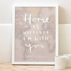 This charming and loveable typographic home map print makes a great gift. The…