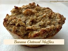 This easy muffin recipes makes hearty banana oatmeal muffins that the whole family will enjoy. It's a healthy breakfast treat any day of the week.