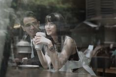 Cafe themed engagement photoshoot | An Artsy Pre-Wedding Shoot With A Hint Of Street Style | http://www.bridestory.com/blog/an-artsy-pre-wedding-shoot-with-a-hint-of-street-style