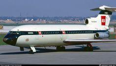 G-ARPE British European Airways (BEA) Hawker Siddeley HS-121 Trident 1C photographed at Dusseldorf - Rhein-Ruhr International (DUS / EDDL) by Peter Scharkowski