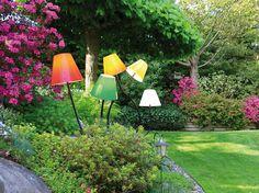 With swing arm plastic Floor lamp OCTOPUS OUTODOOR by Top Light design Rolf Ziel