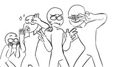 DeviantArt: More Like Draw The Squad 3 by ShorterThanTheEeasel Funny Drawings, Art Drawings Sketches, Drawing Challenge, Art Challenge, Draw The Squad, Drawing Templates, Drawings Of Friends, Art Prompts, Art Poses